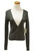 dark gray Qi cashmere sweater