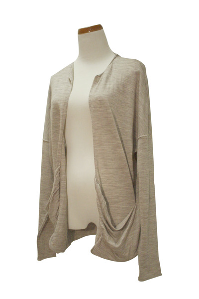camel open Qi cashmere cardigan
