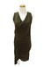 army green Qi cashmere dress