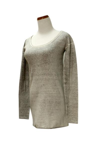 silver Qi cashmere top