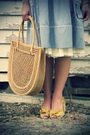Blue-modcloth-dress-gold-anthropologie-shoes