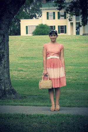 pink 1950s vintage dress - 1960s Vintage