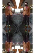 tawny asos blazer - tawny asos shoes - dark brown vintage from Ebay hat