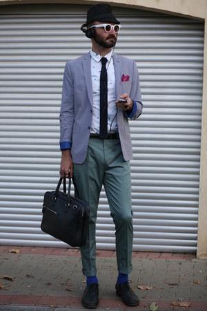 white asoscom shirt - magenta Zara scarf - navy Zara bag