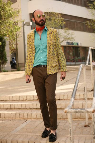 Zara shirt - eba blazer - Zara scarf