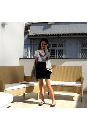 white Imaginarium t-shirt - black oh boy skirt - purple zoxy shoes - silver Q-vi