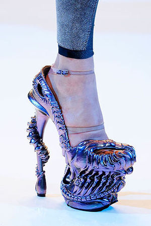 purple Alexander McQueen shoes