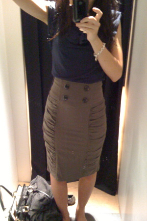 Topshop top - Mango skirt