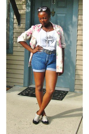 thrifted blazer - Urban Outfitters shoes - thrifted shorts