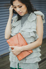 Silver-jill-stuart-sweater-bronze-envelop-clutch-ysl-bag