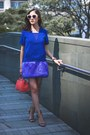 Blue-three-floor-dress-orange-mini-peekaboo-fendi-bag