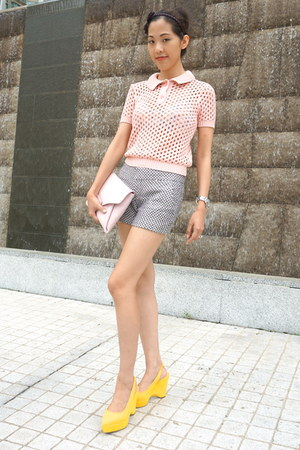 pink envelop clutch Givenchy bag - light pink American Apparel sweater
