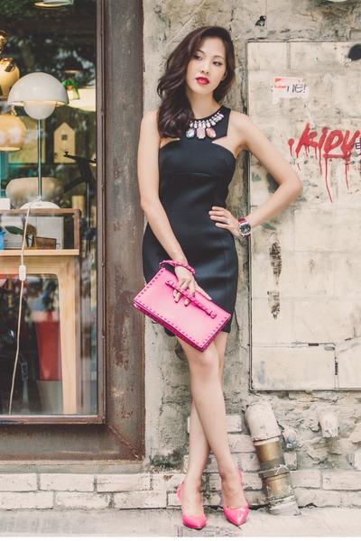 jewelled dress funktional dress - rockstud clutch Valentino purse