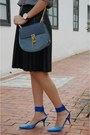 Blue-drew-chloe-bag-black-pu-leather-unknown-brand-skirt