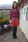 Black-alexander-wang-boots-maroon-33-field-trip-skirt