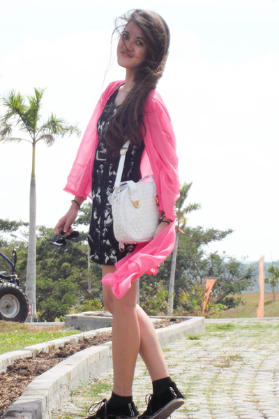 lace dresslily bag - chiffon Front Row Shop cardigan