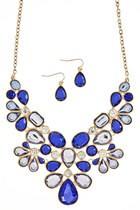 blue jewel necklace
