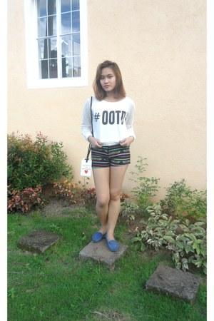 tribal genevieve gozum shorts - ootd white Androgyne Manila top