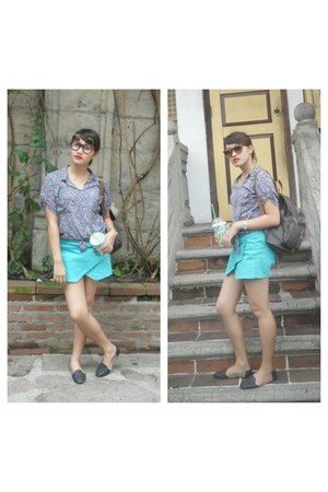 aquamarine teal Bazaar shorts