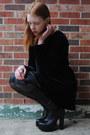 Black-thrifted-dress-black-tights-black-thrifted-belt-black-heels