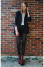 Brick-red-jeffrey-campbell-boots-black-thrifted-blazer-black-thrifted-shorts