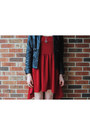 Ruby-red-asymmetrical-dress-brick-red-platform-jeffrey-campbell-boots