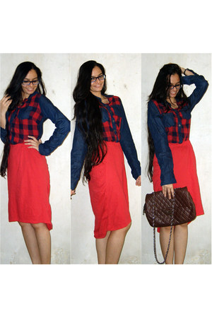 red handmade skirt