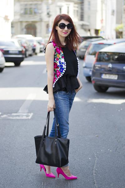 H&M shoes - Blaque Label blouse