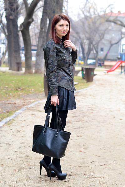 romwe shirt - AX Paris skirt - Lovely whole sale heels