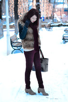 Shopbop Dolce Vita boots - Shopbop BB Dakota vest - AX Paris pants