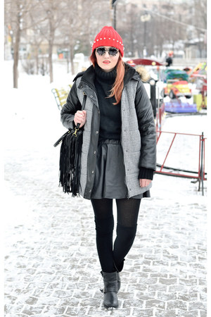 chicnova hat - JollyChic jacket - zeroUV sunglasses - Romwecom skirt