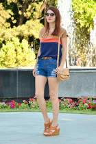 sarenzaeu wedges - sarenzaeu bag - Sheinside shorts