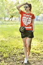 asos t-shirt - romwe shorts - Superga sneakers