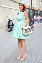 gabriela atanasov dress - bookletta bag - kurtmann sandals