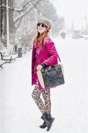 Romwecom coat - PERSUNMALL leggings - PERSUNMALL bag - zeroUV sunglasses