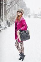 Romwecom coat - PERSUNMALL leggings - PERSUNMALL bag - zeroUV sunglasses