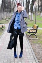 romwe shirt - Stradivarius coat - romwe shorts