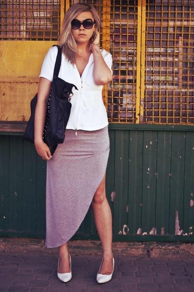 silver NN skirt - white Secondhand blouse