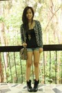 Thrifted-boots-parfoit-bag-people-are-people-shorts-promod-top