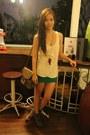 Primadonna-boots-parfois-bag-forever-21-skirt-feather-aldo-necklace