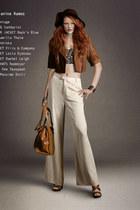 brown rock n blue jacket - camel Sandqvist bag - dark brown Massimo Dutti heels