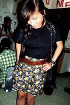 Topshop shirt - skirt - Mango belt