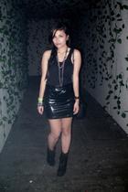 Mango top - DIY skirt - Aldo accessories - Nine West boots