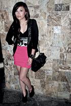 Wisdom blazer - Dark White shirt - skirt - boots