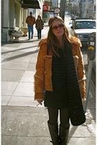 litter accessories - vintage fur jacket - H&M scarf - American Apparel leggings