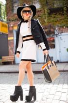 brown bag pauls boutique bag - zipper platform YRU boots