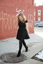 black Gracia dress - gold Dessine-moi un Soulier boots