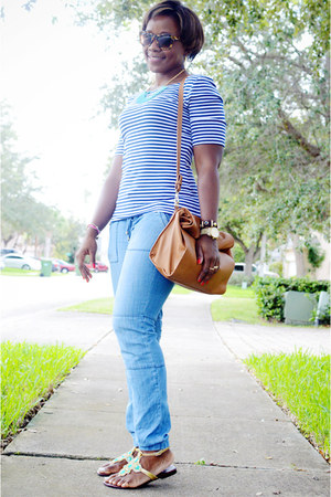 Forever 21 jeans - Zara bag - Fibi & Clo sandals - banana republic t-shirt