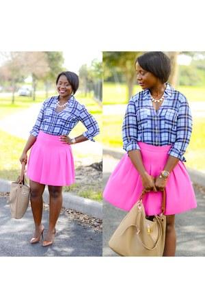 hot pink J Crew skirt - Express shirt