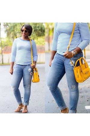 blue Gap jeans - bag - Zara t-shirt